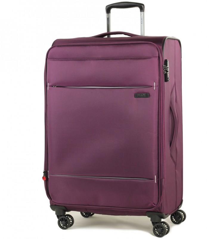 Rock DELUX-LITE Textilní kufr na 4 zdvojených kolečkách 72cm (fialová)