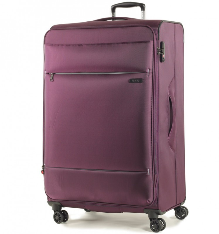 Rock DELUX-LITE Textilní kufr na 4 zdvojených kolečkách 83cm (fialový)