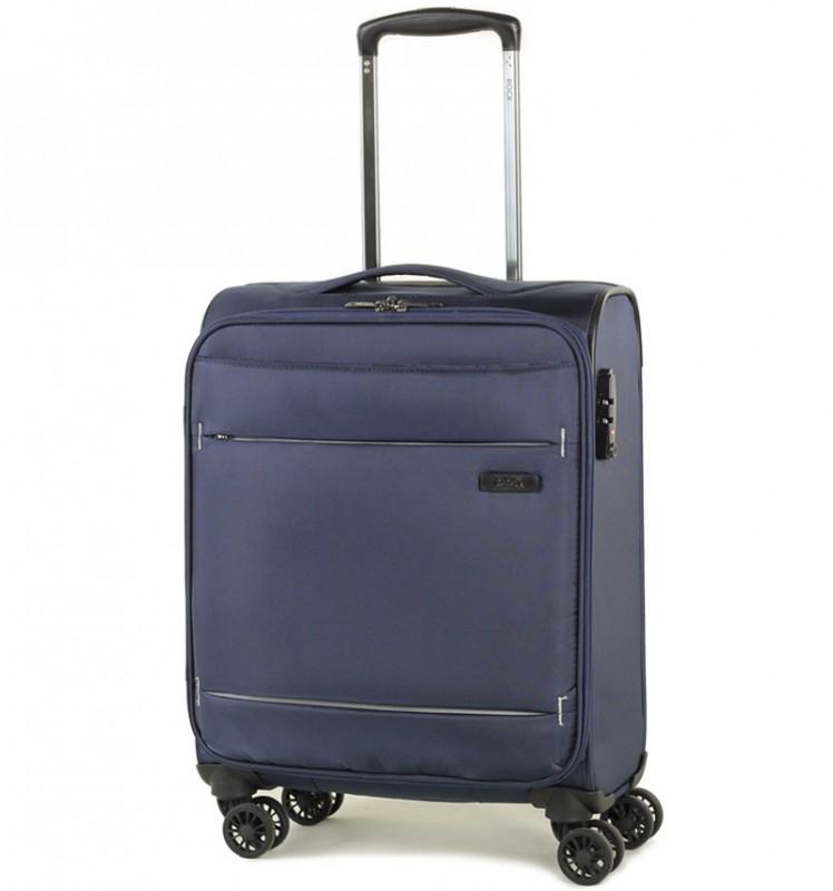 Rock DELUX-LITE Textilní palubní kufr na 4 zdvojených kolečkách 55cm (tmavě modrá)