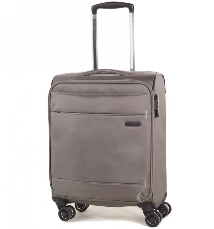 Rock DELUX-LITE Textilní palubní kufr na 4 zdvojených kolečkách 55cm (béžová)
