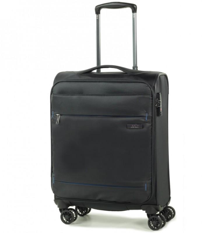 Rock DELUX-LITE Textilní palubní kufr na 4 zdvojených kolečkách 55cm (černá)
