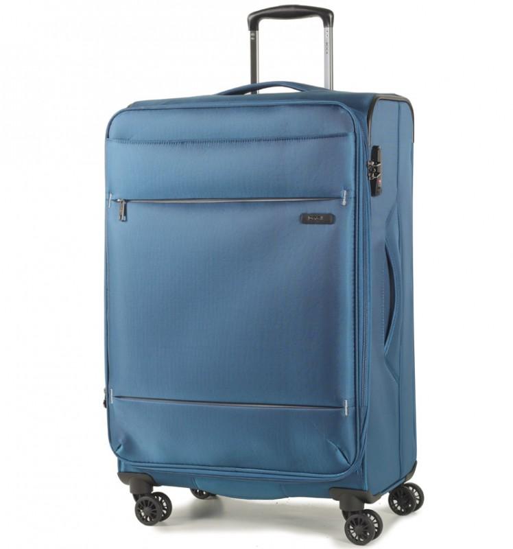 Rock DELUX-LITE Textilní kufr na 4 zdvojených kolečkách 72cm (modrá)