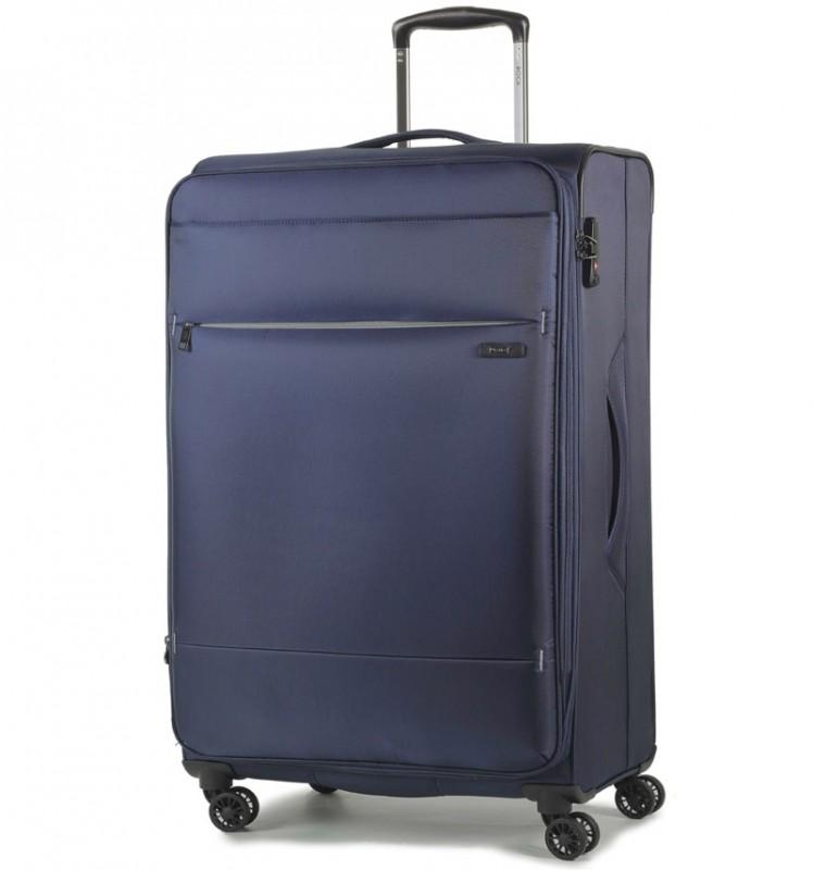 Rock DELUX-LITE Textilní kufr na 4 zdvojených kolečkách 72cm (tmavě modrá)