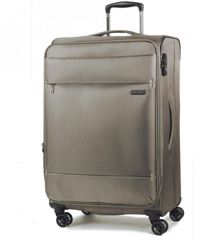 Rock DELUX-LITE Textilní kufr na 4 zdvojených kolečkách 72cm (béžová)
