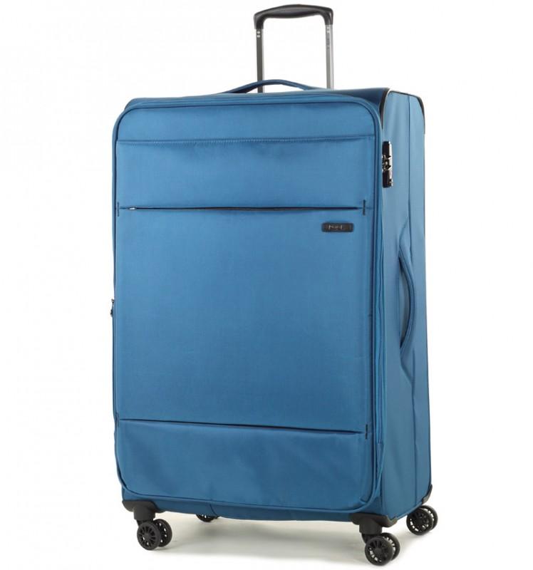 Rock DELUX-LITE Textilní kufr na 4 zdvojených kolečkách 83cm (modrá)
