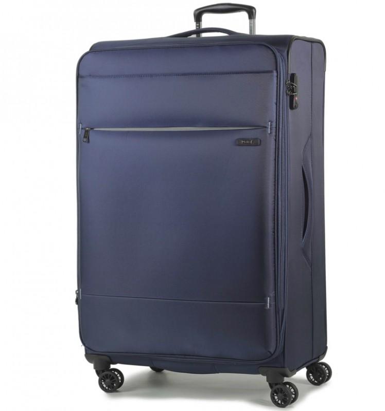 Rock DELUX-LITE Textilní kufr na 4 zdvojených kolečkách 83cm (tmavě modrá)