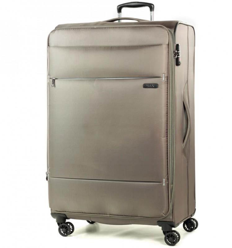 Rock DELUX-LITE Textilní kufr na 4 zdvojených kolečkách 83cm (béžová)
