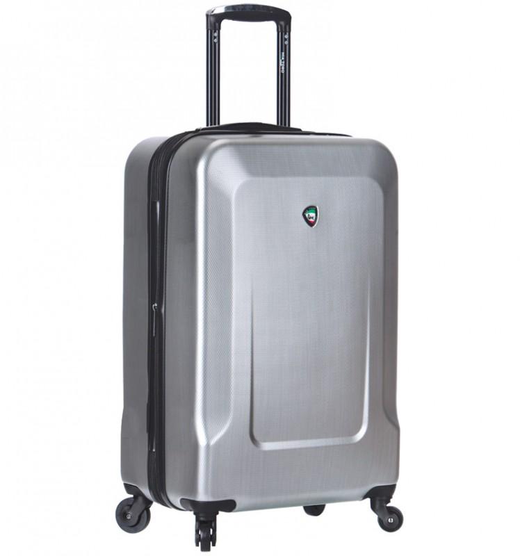 Mia Toro INGRIA Kabinový kufr s hliníkovou úpravou 55cm - Silver