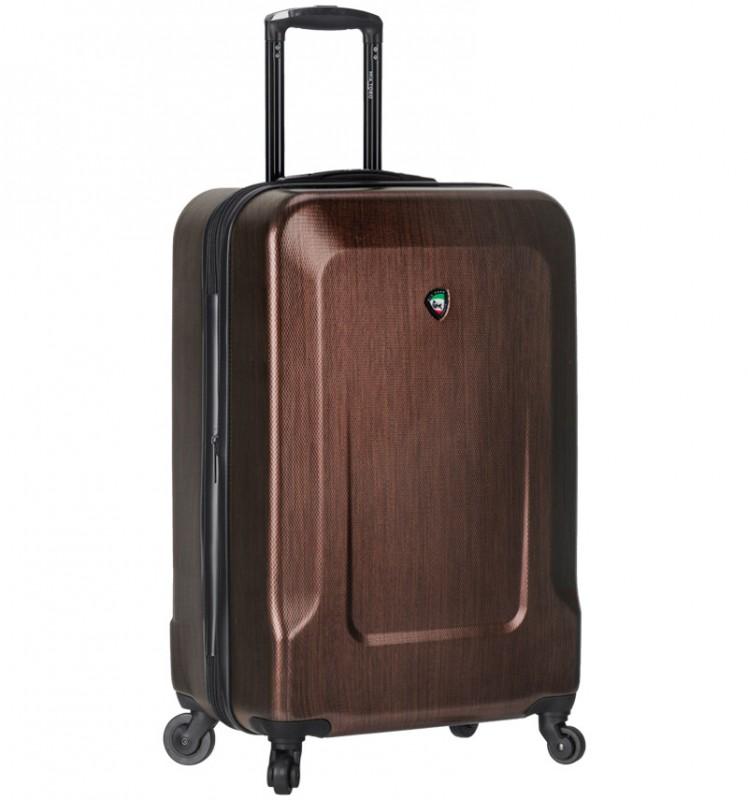 Mia Toro INGRIA Kabinový kufr s hliníkovou úpravou 55cm - Brown
