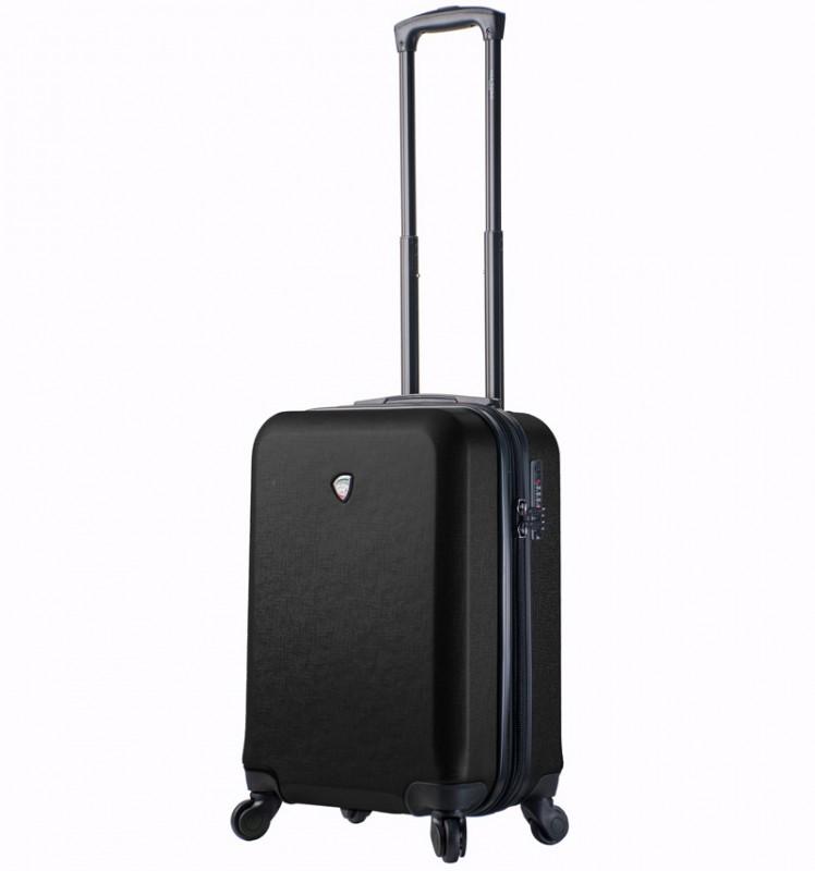 Mia Toro SACCO Kabinový kufr v designu kůže 55 cm - Black