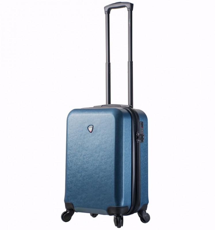 Mia Toro SACCO Kabinový kufr v designu kůže 55 cm - Blue