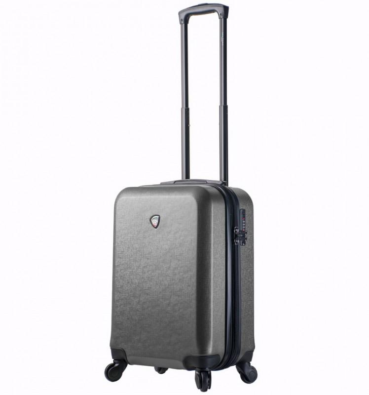 Mia Toro SACCO Kabinový kufr v designu kůže 55 cm - Grey