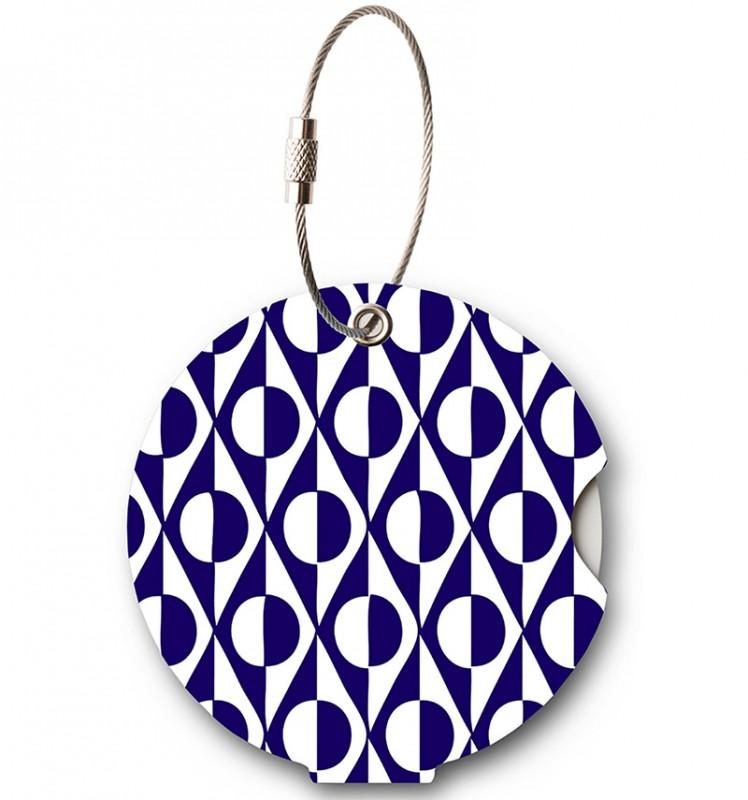 Addatag - Jmenovka na kufr - vzor Japan Blue