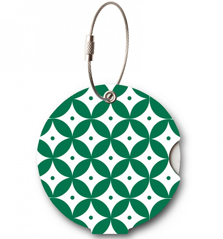 Addatag - Jmenovka na kufr - vzor Japan Green