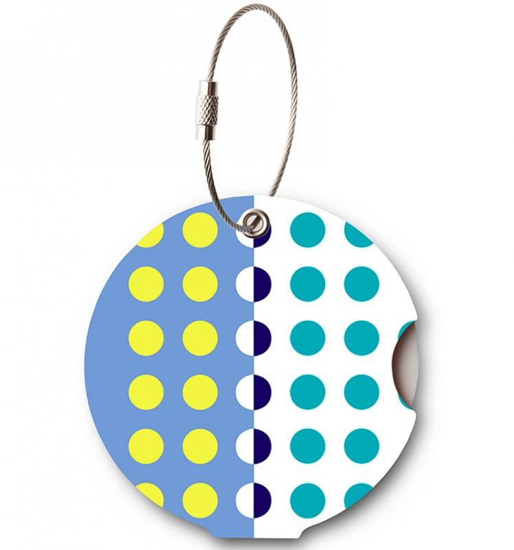 Addatag - Jmenovka na kufr - vzor Multi Dots Blue