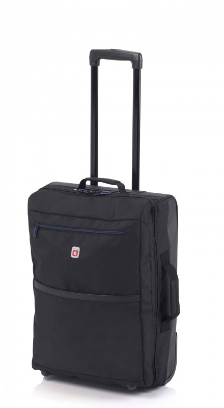Gladiator TRICK Nylonový kufr na kolečkách (Black)