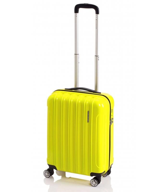 Gladiator NEON Lehký polykarbonový kufr s TSA (Yellow)