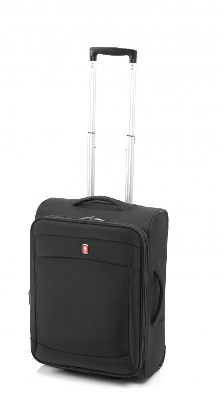 Gladiator SMART Rozšířitelný nylonový palubní kufr 55cm (Black)
