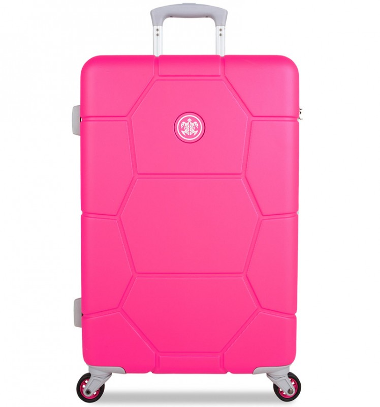 SuitSuit CARETTA Cestovní kufr z ABS 65 cm - Hot Pink