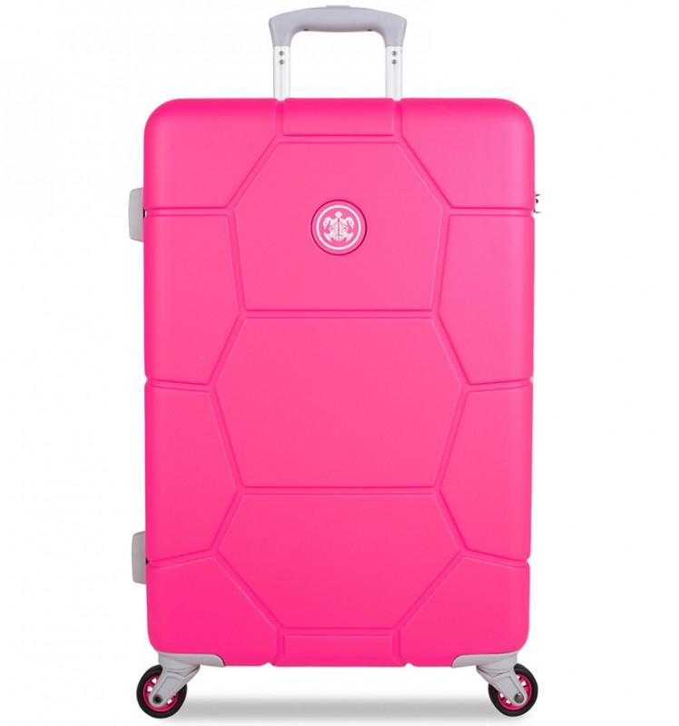 SuitSuit CARETTA Velký cestovní kufr z ABS 75 cm - Hot Pink