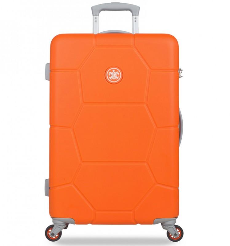 SuitSuit CARETTA Velký cestovní kufr z ABS 75 cm - Vibrant Orange