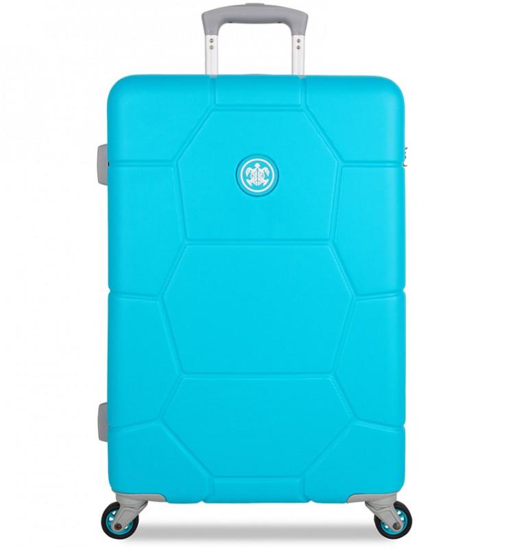 SuitSuit CARETTA Velký cestovní kufr z ABS 75 cm - Peppy Blue