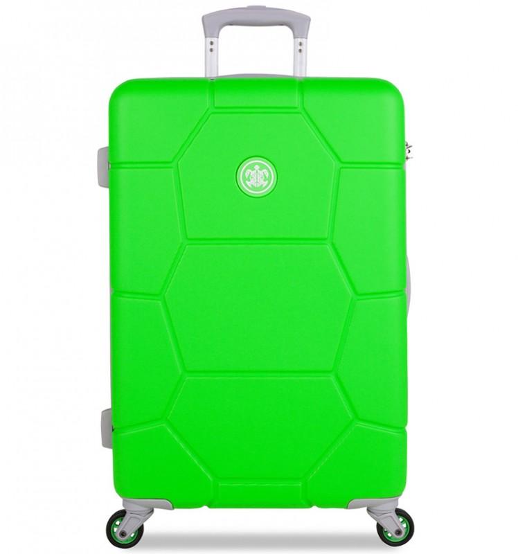SuitSuit CARETTA Velký cestovní kufr z ABS 75 cm - Active Green