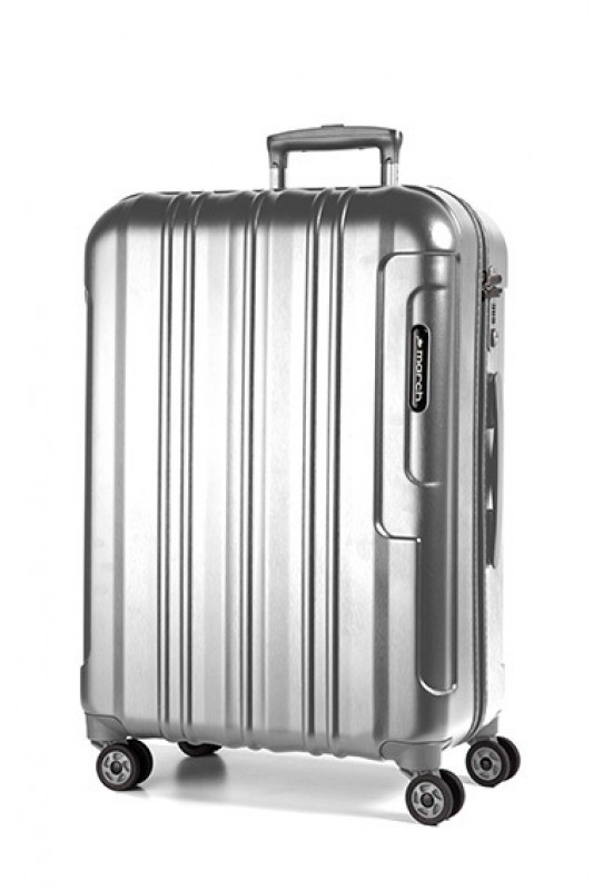 March COSMOPOLITAN SE Luxusní cestovní kufr 67cm (Silver alu)
