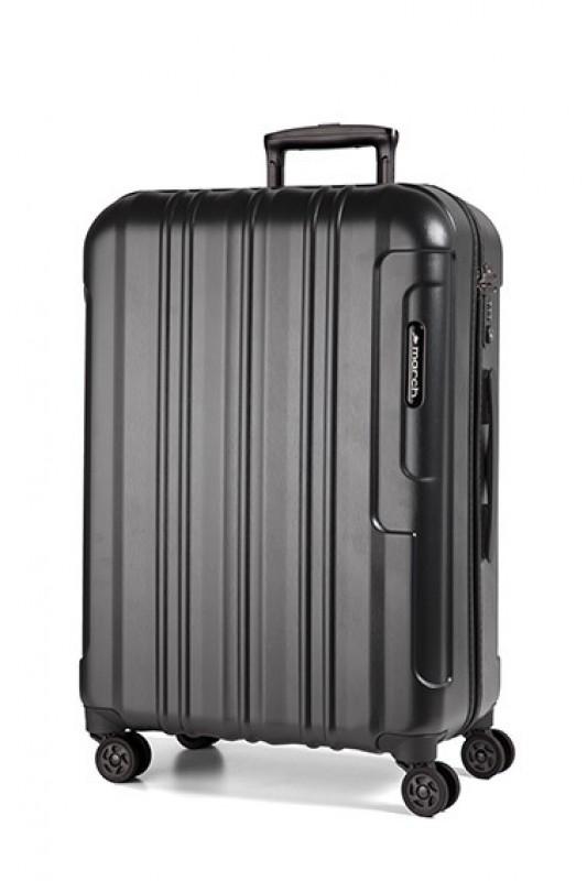 March COSMOPOLITAN SE Kvalitní cestovní kufr 78cm (Black alu)