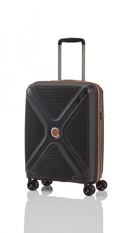 Titan PARADOXX Odolný skořepinový palubní kufr 55cm (Black)