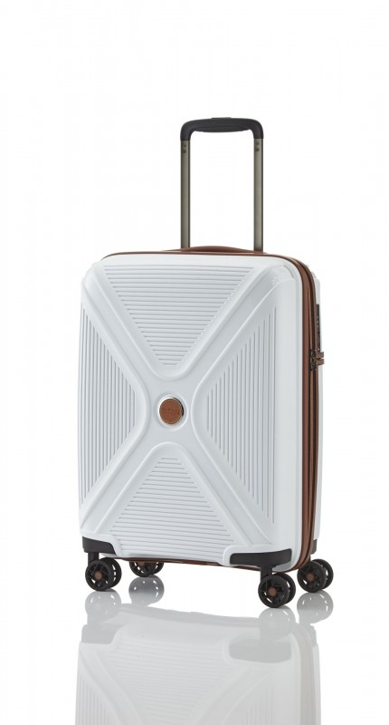 Titan PARADOXX Odolný skořepinový palubní kufr 55cm (White)