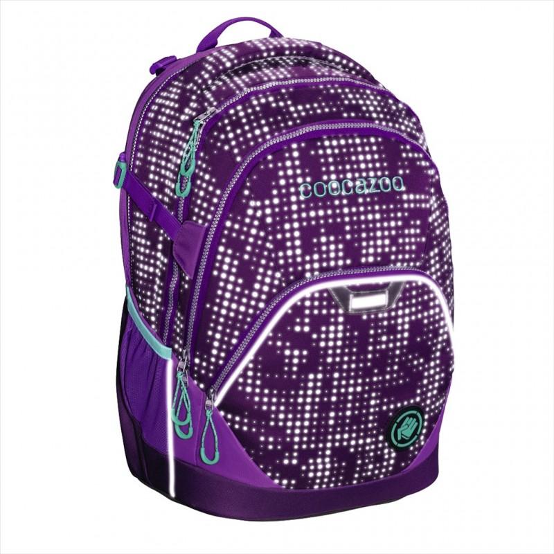 Coocazoo EVVERCLEVVER2 Školní batoh reflexní, certifikát AGR - Purple Galaxy