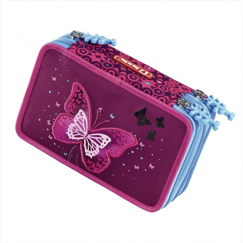 Step by Step ŠKOLNÍ PENÁL Vybavený blikací - Třpytivý motýl