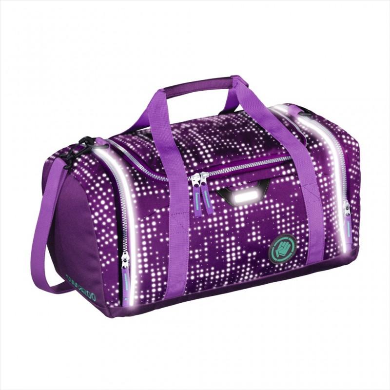 Coocazoo SPORTERPORTER Sportovní reflexní taška 42cm - Purple Galaxy