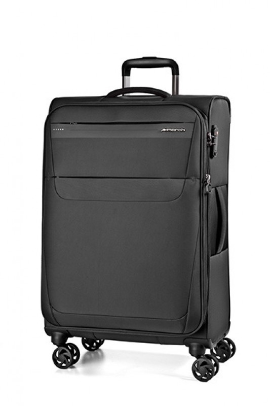 March AEON Lehký rozšířitelný textilní kufr 68cm (Black)