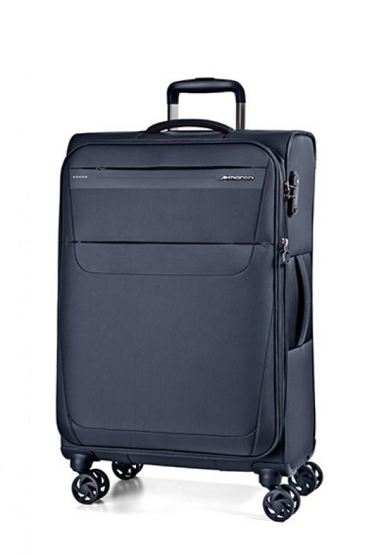 March AEON Lehký rozšířitelný textilní kufr 68cm (Navy)
