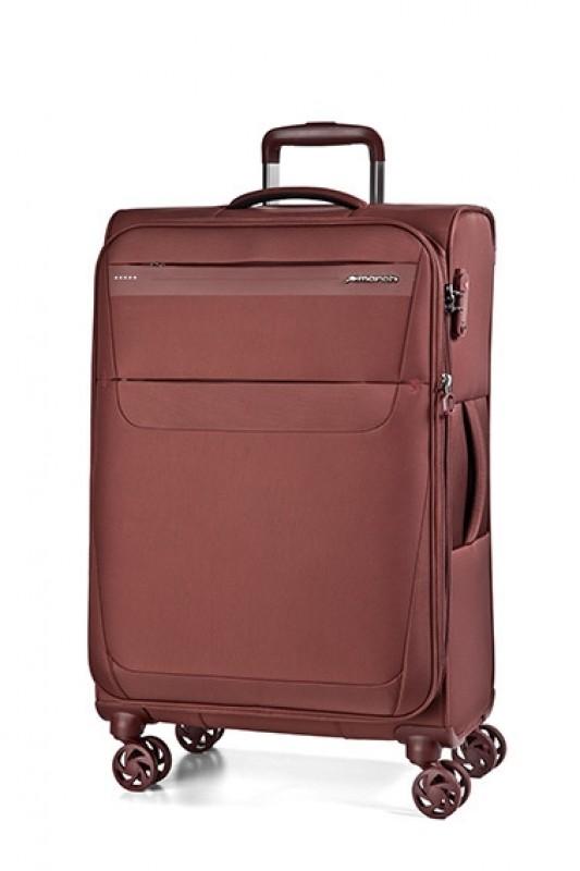 March AEON Lehký rozšířitelný textilní kufr 78cm (Dark rusty)