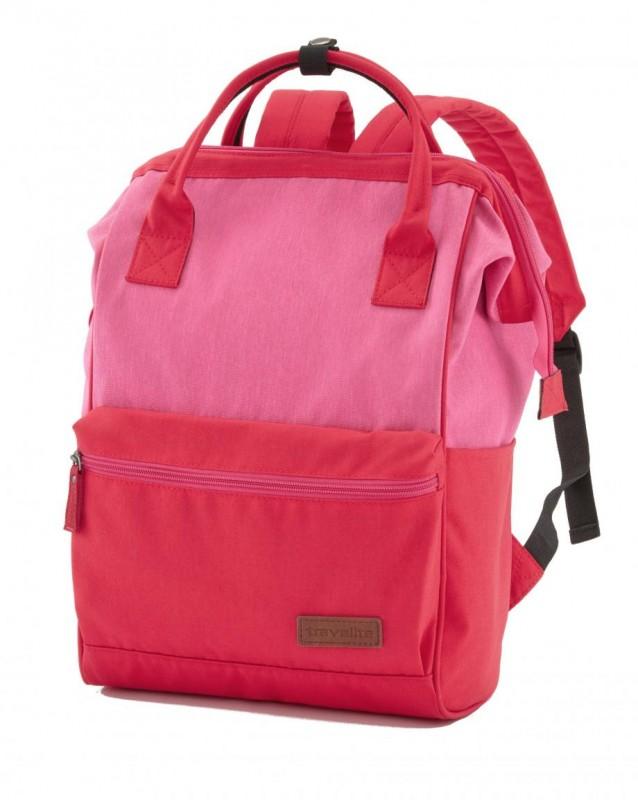 Travelite NEOPAK Víceúčelový městský batoh i taška 18 l (Red/pink)