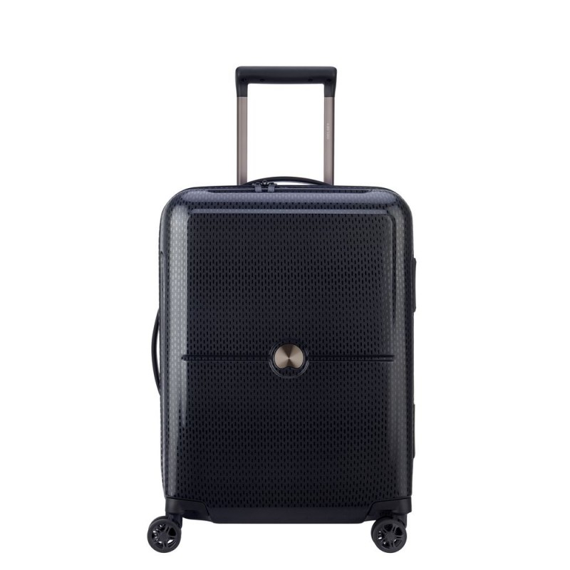 Delsey TURENNE Kabinový kufr 4w 55 cm SLIM (Black)