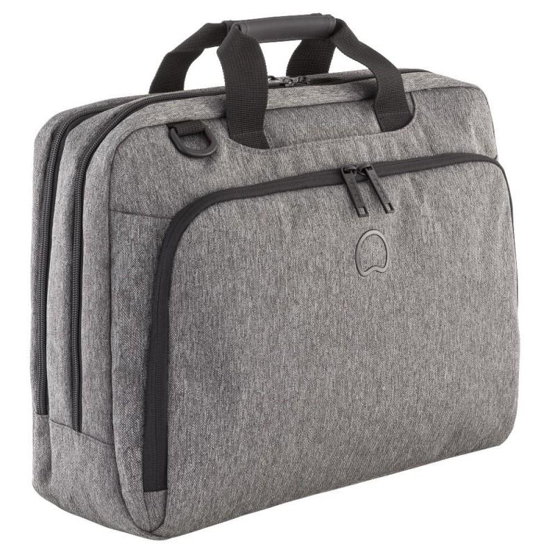 """Delsey ESPLANADE Dvoukomorová taška s PC ochranou 15,6"""" NTB (Anthracite)"""