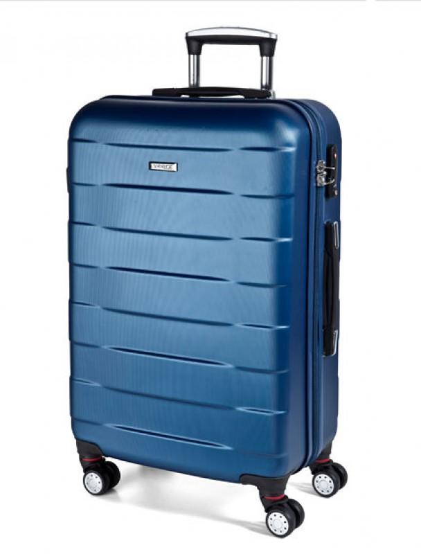 March BUMPER Cestovní kufr 4 kolečka 76 cm, L (modrý)