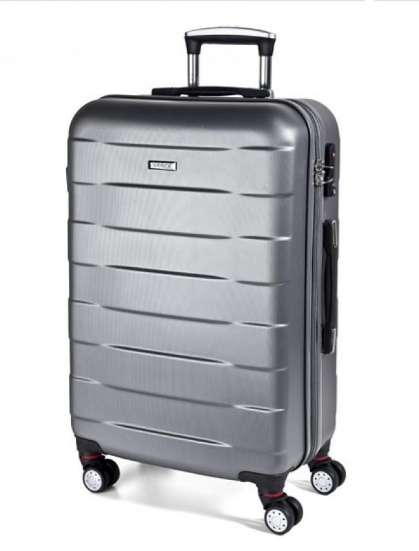 March BUMPER Cestovní kufr 4 kolečka 76 cm, L (stříbrný)