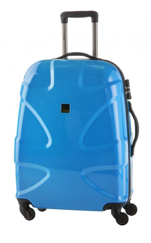 Titan X2 Flash Palubní kufr 4 kolečka 55 cm, S (azurový)