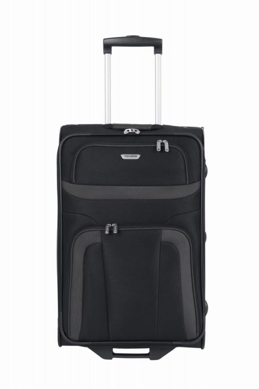 Travelite ORLANDO Cestovní kufr 2 kolečka 63 cm, M (černý)