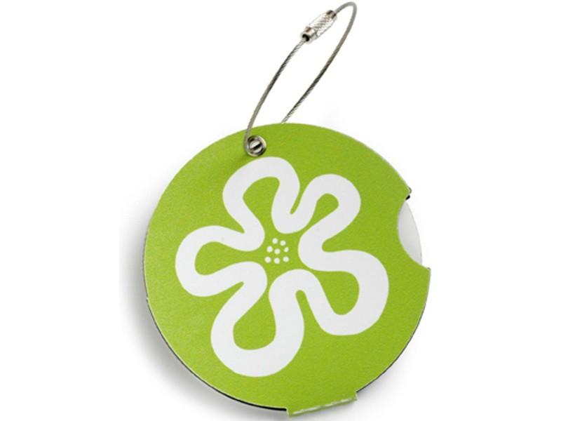 Addatag - Jmenovka na kufr - vzor Flower green