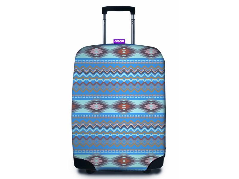 SuitSuit - Obal na kufr - vzor Apache Blue