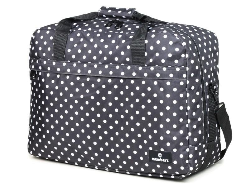 Member\'s ESSENTIAL ON-BOARD Cestovní taška 55 cm, S (černá/ bílá)