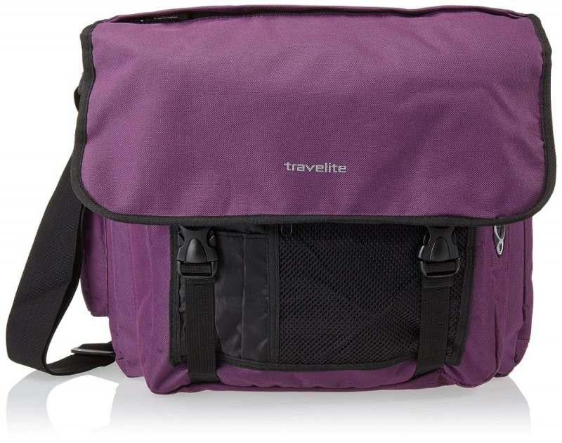 Travelite BASICS Messenger Bag (Aubergine)