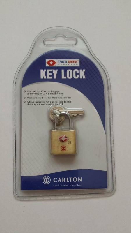 Carlotn Zámek na klíček s TSA (zlatý)