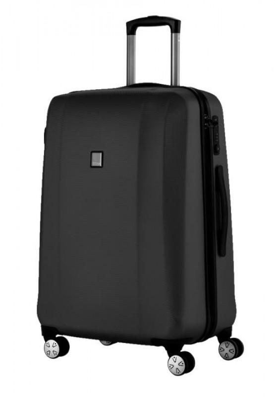 titan xenon velk kufr spinner 4 kole ka 81 cm xl ern. Black Bedroom Furniture Sets. Home Design Ideas